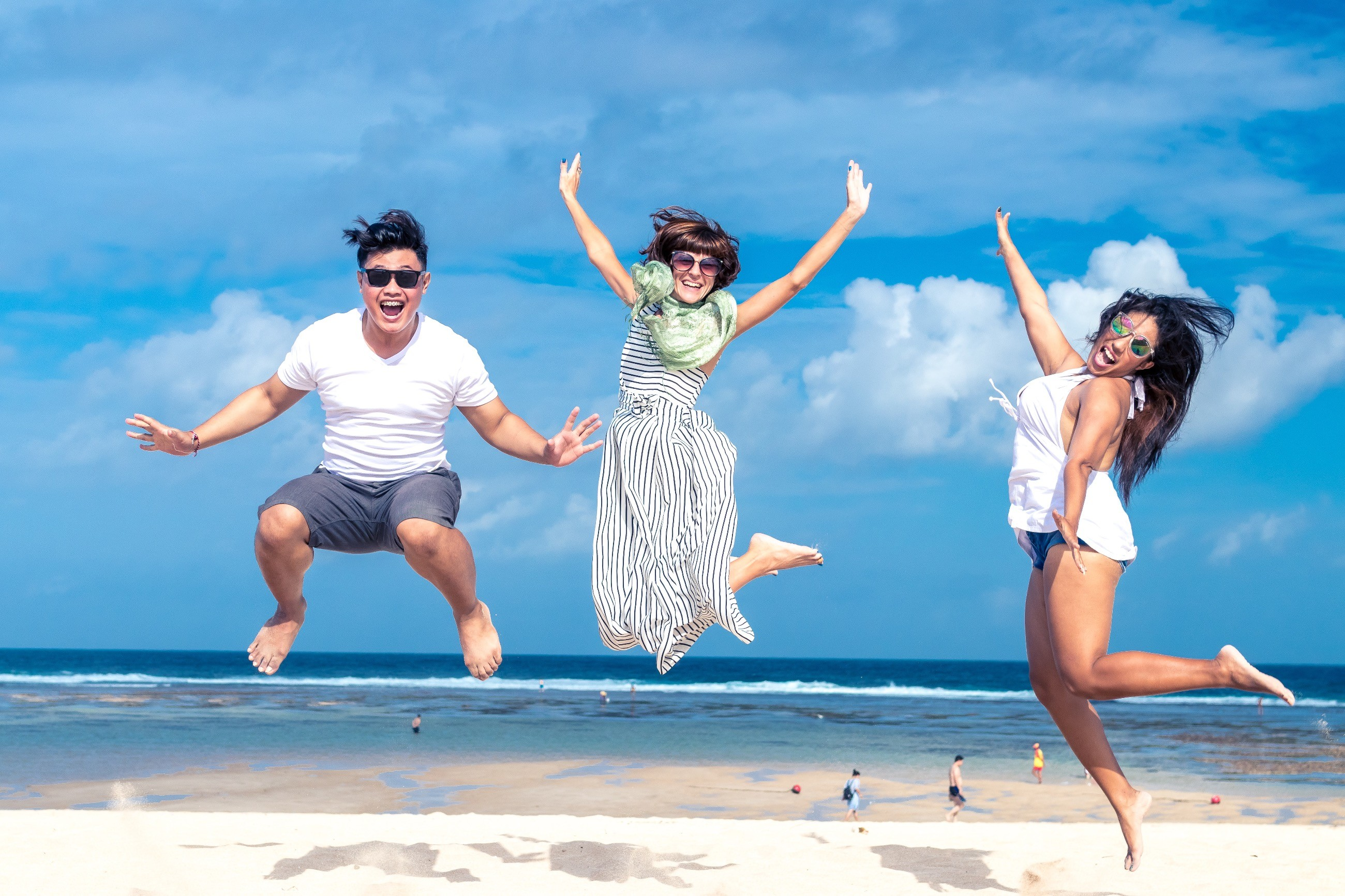 people beach jumping january goals